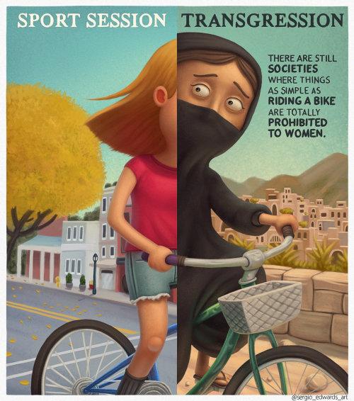 Character design  girl on cycle
