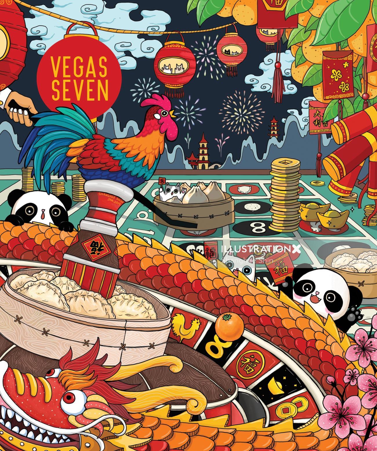 Cover Art of Vegas Seven Magazine