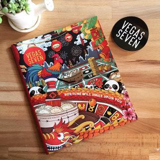 magazine, cover art, china, Chinese new year, panda, cat, Las Vegas, Shanghee Shin