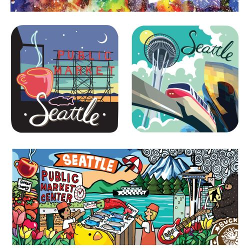 art, seattle, tour, souvenir, travel