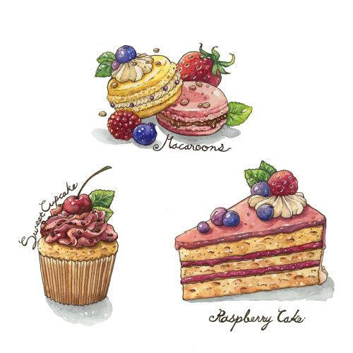 cake, sweet, food