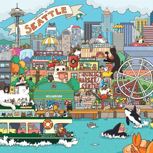 Shanghee Shin Internationaler skurriler Kinderillustrator. Seattle