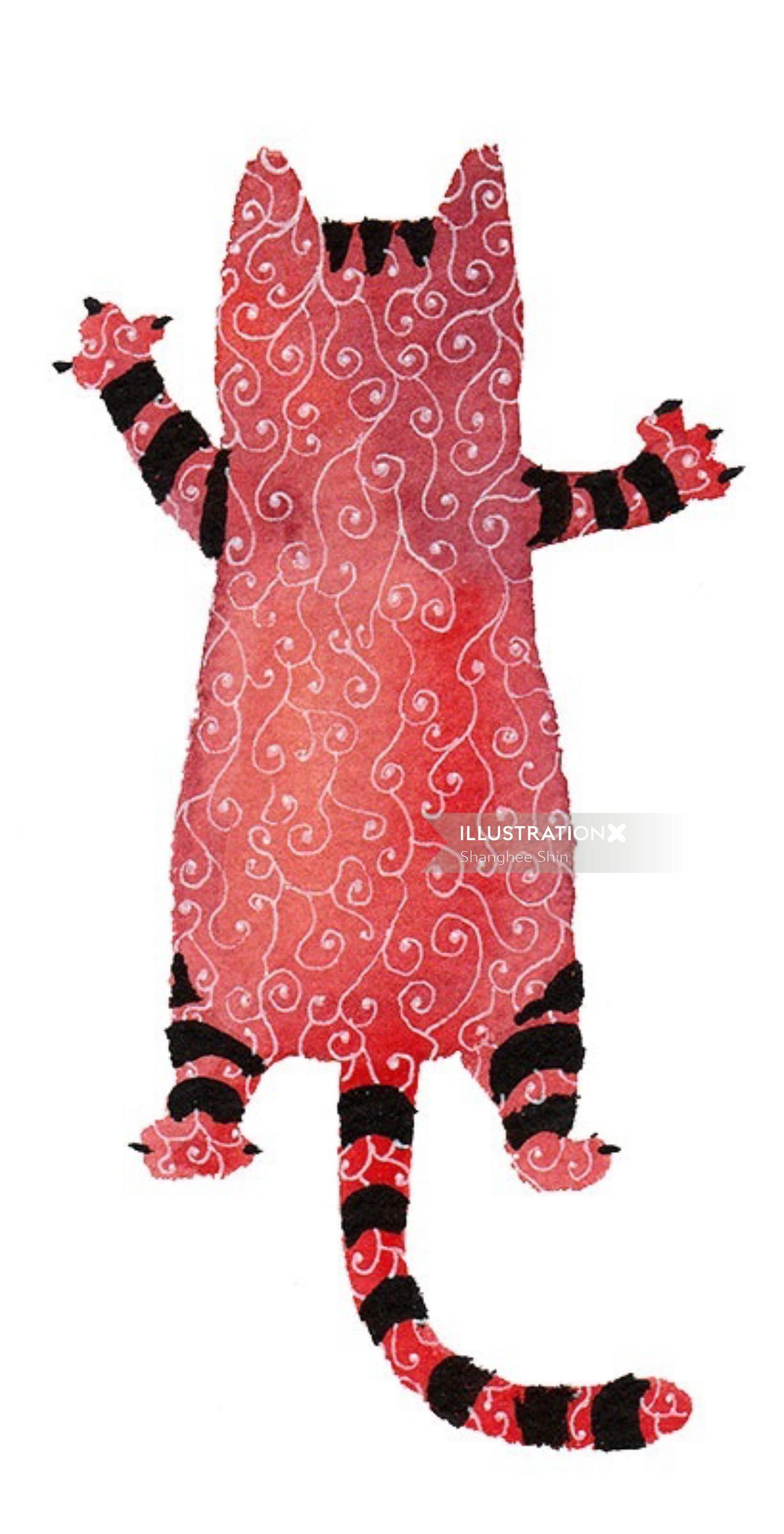 watercolour animal graphic cat