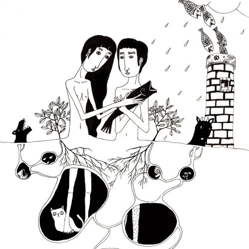 An illustration of couple