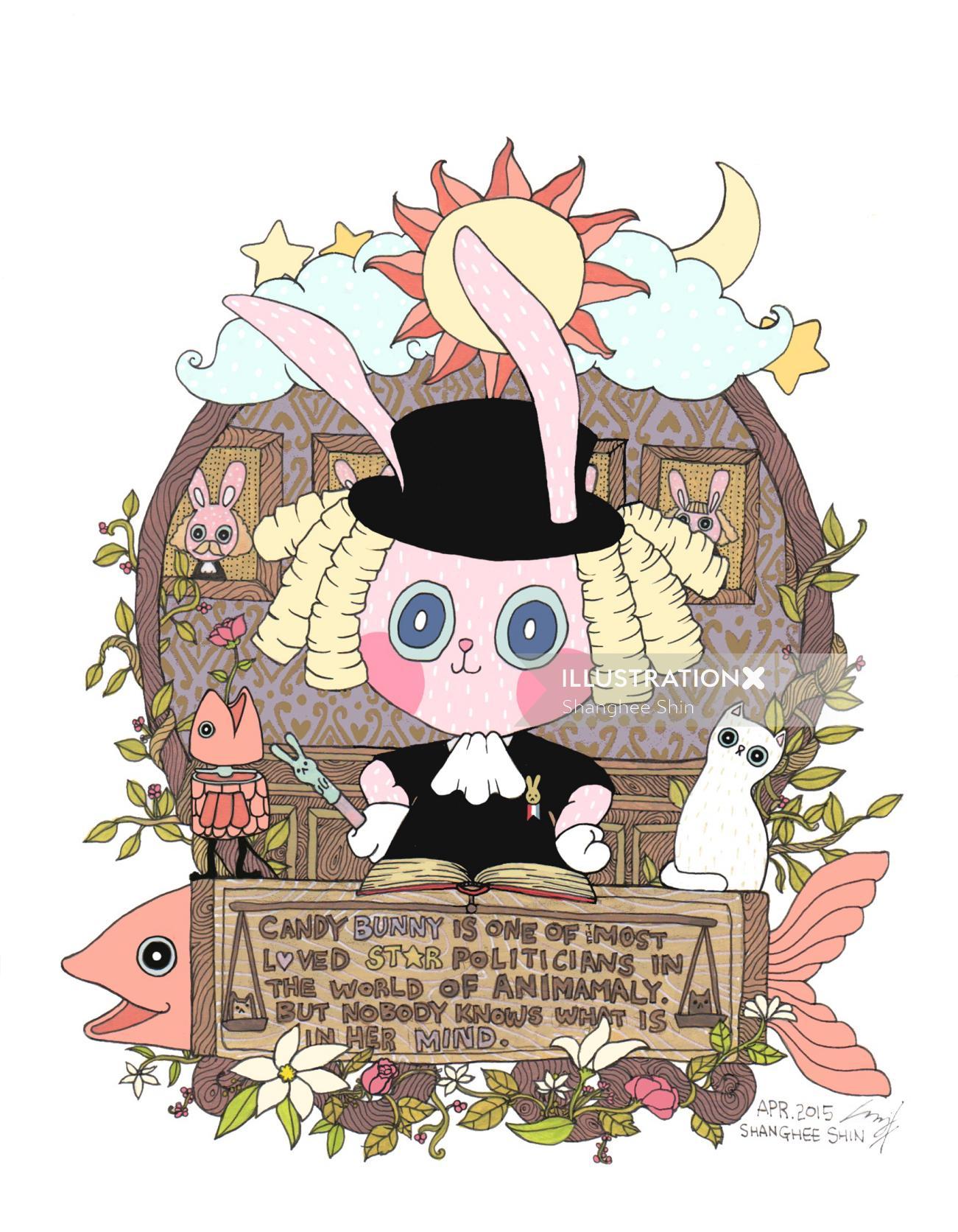 Candy Bunny Children graphic