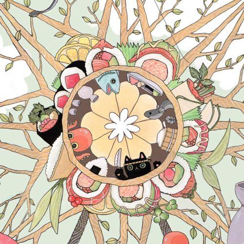 The Sushi Wheel Fantasy Graphic