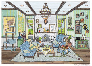 An illustration of home interior