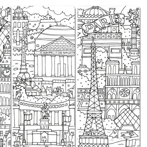 Remarks Pen graphic cities of the world
