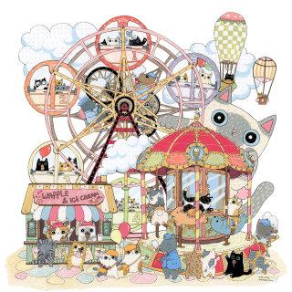 An illustration of amusement park