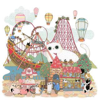 An illustration of entertainment park