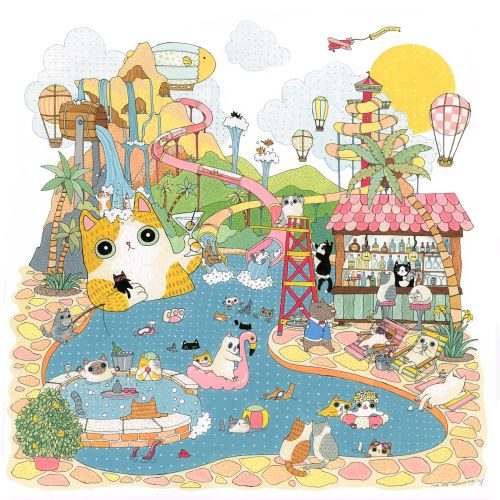 An illustration of summer vacation