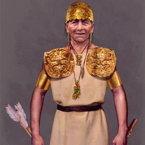 Portrait illustration of warrior