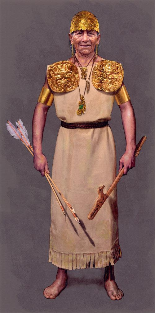 Ilustração do retrato do guerreiro