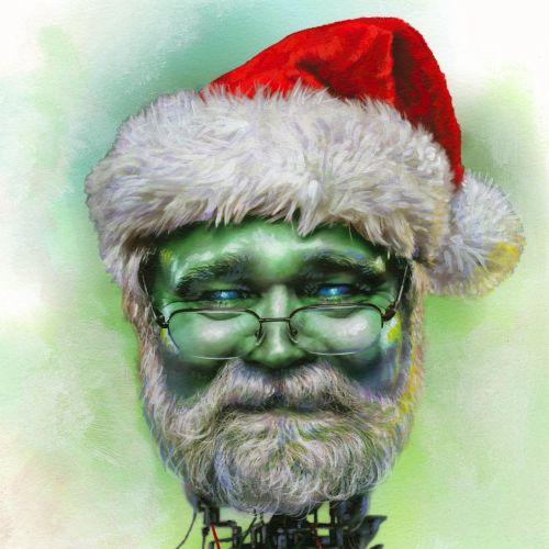 Santa Claus portrait illustration