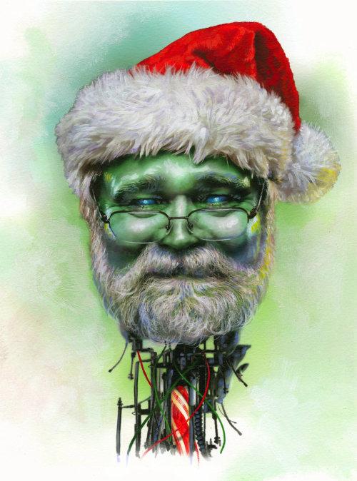 Ilustração do retrato de Papai Noel