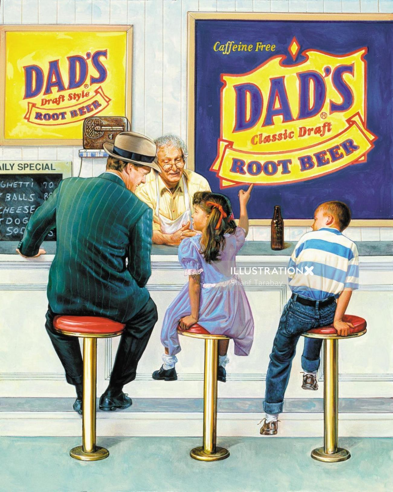 Graphic Dad's Rootbeer -Packaging