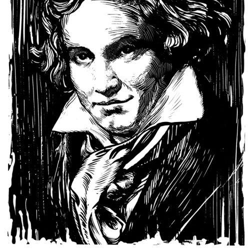Beethoven portrait illustration