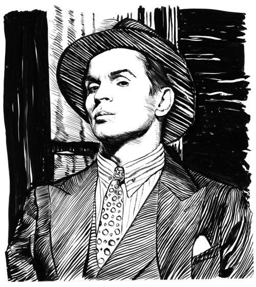Ilustração do retrato de Nureyev