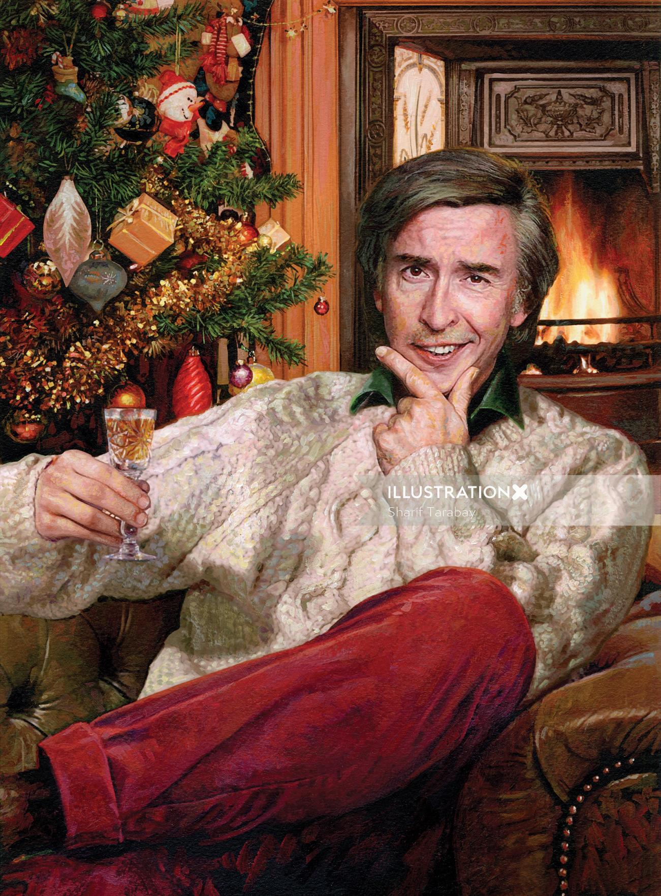 Portrait alan partridge christmas