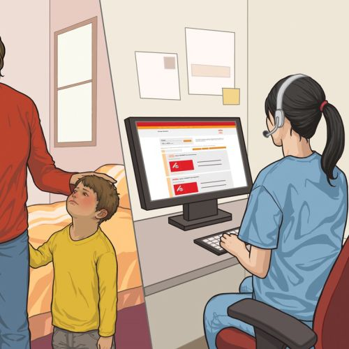 meducal doctor checking patient online