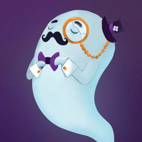 Pencil made art of Dapper Ghost