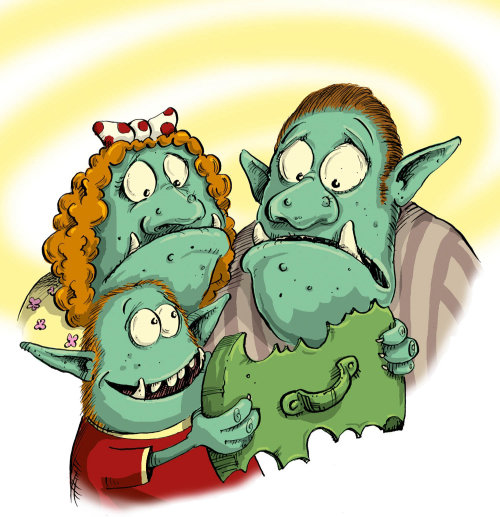 Monster family illustration