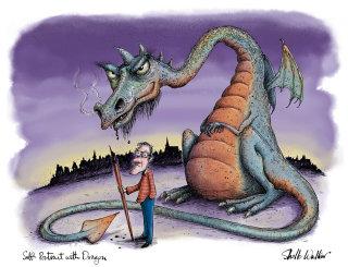 Illustration for a dragon