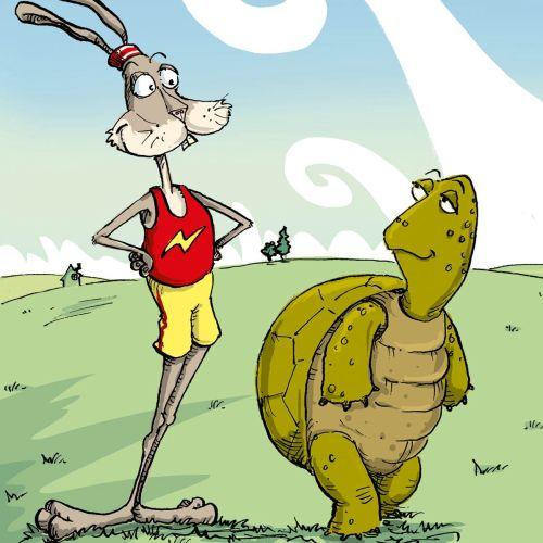 Cartoon & Humour tortoise hare