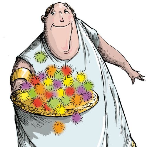 Cartoon & Humour fat Roman man