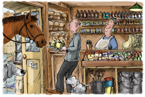 Computer Generated Traditional English village shop interior