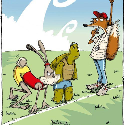 Cartoon & Humour A tortoise and Hare