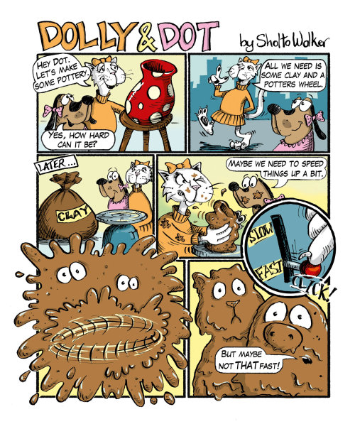 Dolly and Dot children's cartoon strip