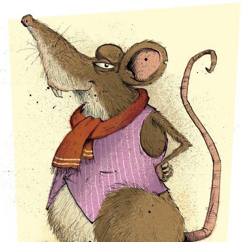Rat character illustration by Sholto Walker