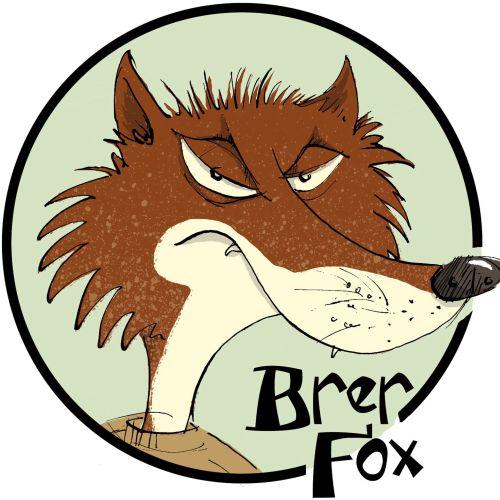 Cartoony Style Illustration of Brer Fox