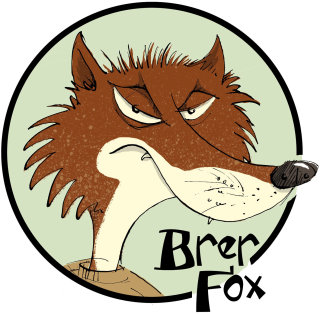 Cartoony Style Illustration of Brer Fox