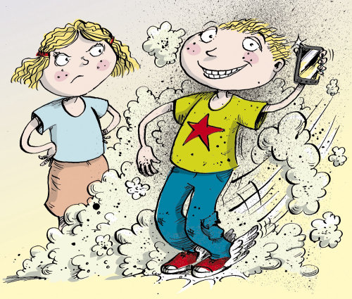 Boy & girl illustration | Humourous style gallery