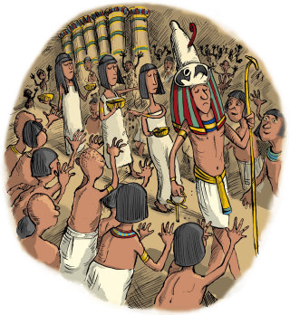 Illustration Of Egyptian Ceremony