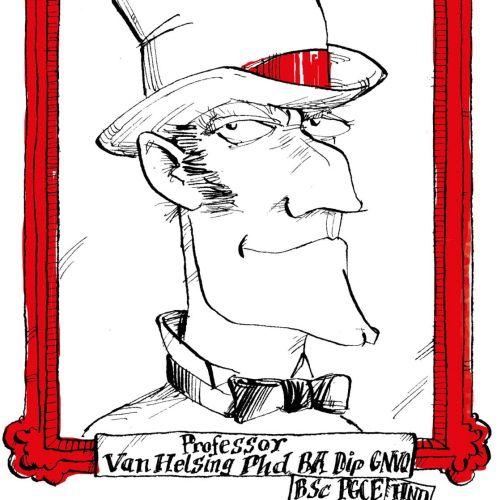 Character Portrait of Professor Van Helsing