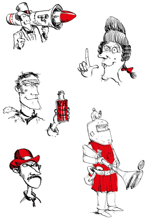 Illustration for Humourous Fictional characters