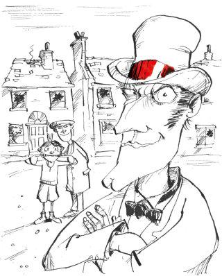 Van Helsing character posing illustration