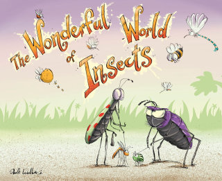 Anthropomorphic insects illustration by Sholto Walker
