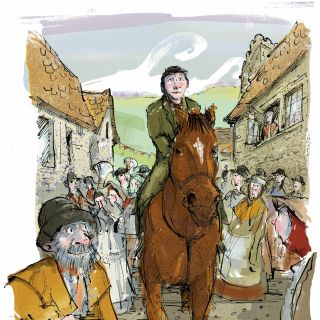 Watercolour image from Michael Morpurgo's novel Warhorse