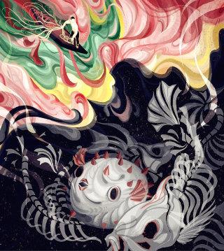 Fantasy style illustration by Sija Hong
