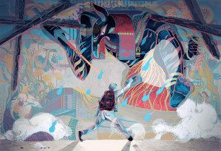 Fantasy man illustration by Sija Hong