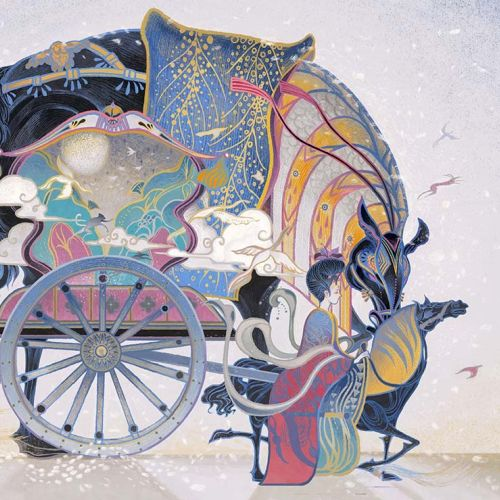 Bullock cart illustration