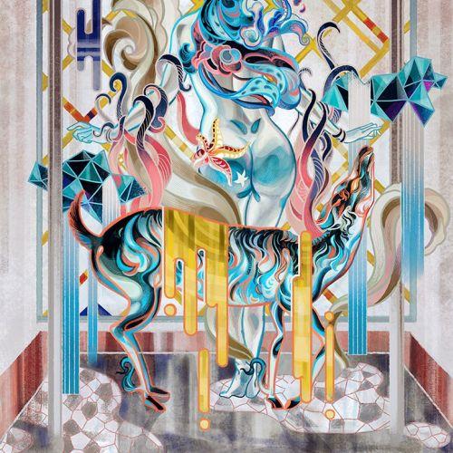 Naked woman fantasy illustration
