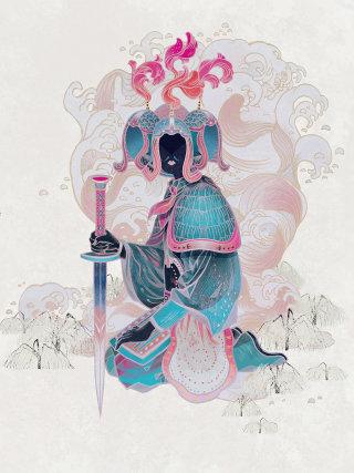 Historical queen artwork by Sija Hong