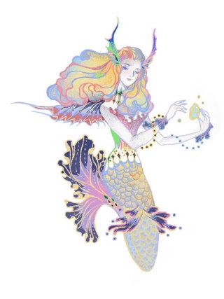 Artwork of fantasy girl