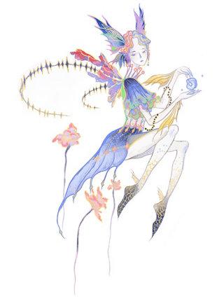 Fantasy woman painting