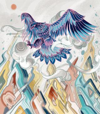 Drawing of pigeon by Sija Hong